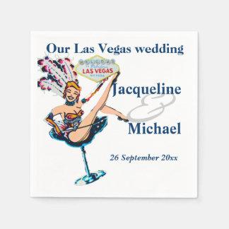 Las Vegas Wedding Party Standard Cocktail Napkin