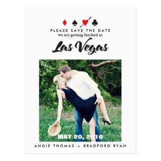 Las Vegas Wedding Photo Save the Date Postcard