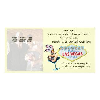 Las Vegas Wedding Photo Thank You Card
