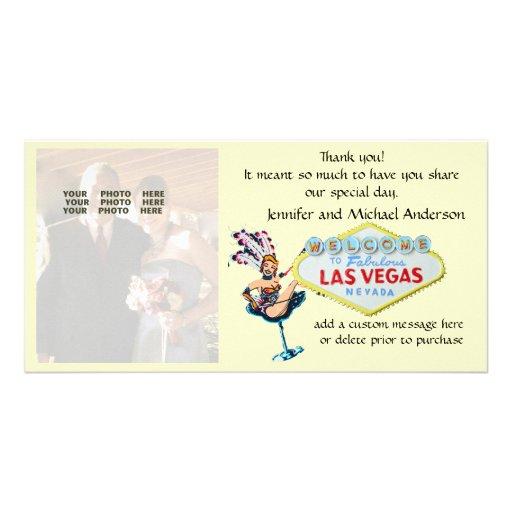 Las Vegas Wedding Photo Thank You Picture Card