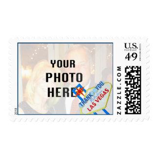 Las Vegas Wedding Photo Thank You Postage Stamps