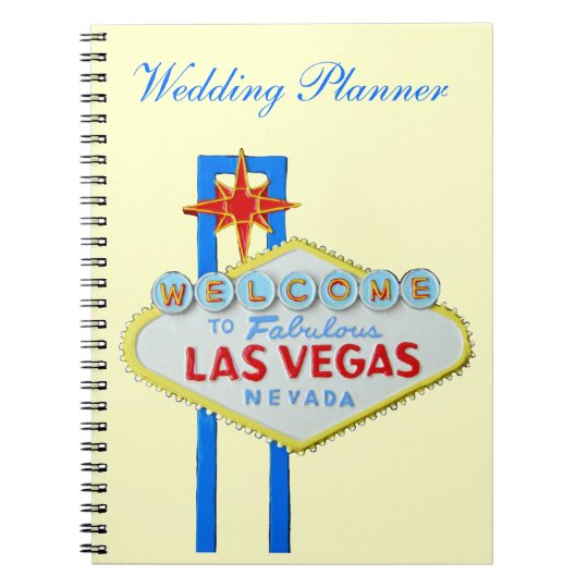 Las Vegas Wedding Planner | Las Vegas Wedding Planner Notebook Zazzle Com