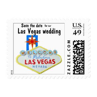 Las Vegas Wedding Plans Postage Stamp