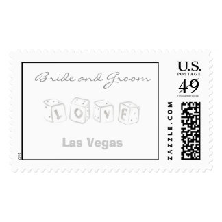Las Vegas Wedding Postage Stamp