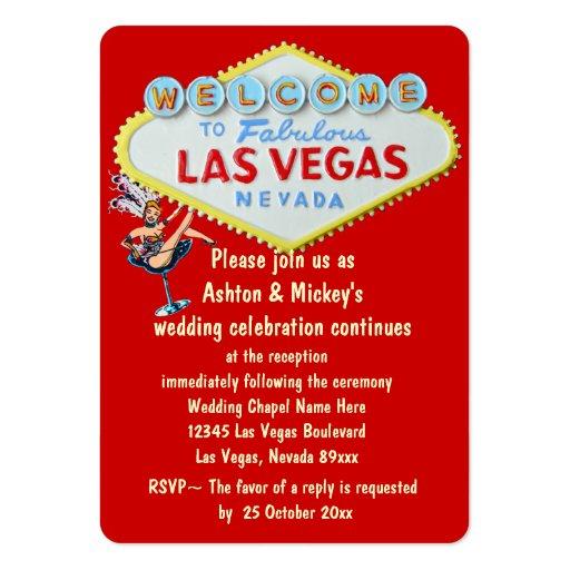 Wedding Invitations Las Vegas Nv Las Vegas Wedding Reception Invitation Business Card