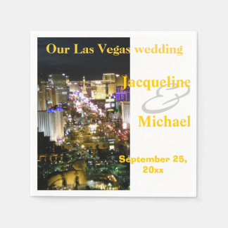 Las Vegas Wedding Receptions Standard Cocktail Napkin