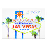 Las Vegas Wedding RSVP cards with envelopes