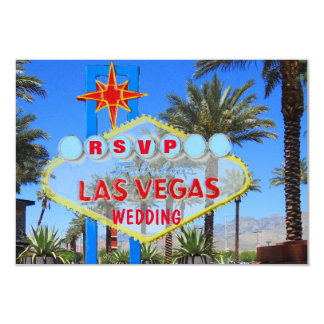 Las Vegas Wedding RSVP Palm Tree with Welcome Sign Card