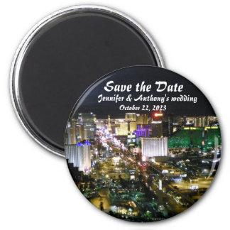 Las Vegas Wedding Save Date Announcement 2 Inch Round Magnet