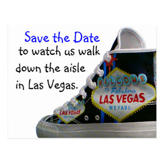 Las Vegas Wedding Save Date : walk down the aisle Postcard