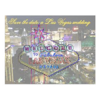 Las Vegas Wedding Save the Date Boulevard View Postcard