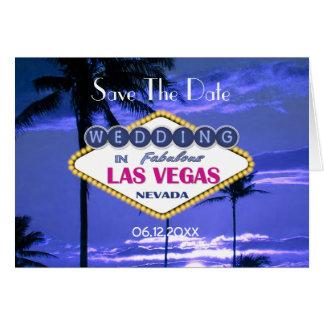 Las Vegas Wedding - Save the Date Card