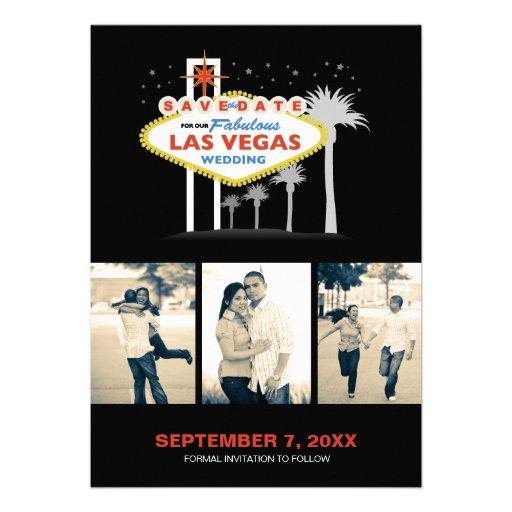 Las Vegas Wedding Save-the-date Invitation
