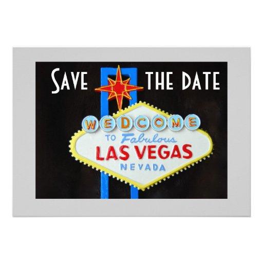 Las Vegas Wedding Save the Date Custom Announcement
