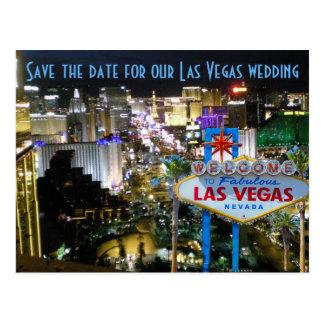 Las Vegas Wedding Save the Date NV Postcard