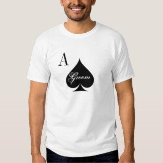 Las Vegas wedding shirt for groom | Ace of spades
