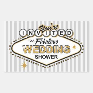Las Vegas Wedding Shower Sticker