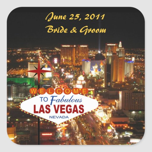 Las vegas wedding sticker zazzle for Arts and crafts stores in las vegas