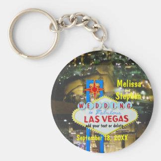 Las Vegas Wedding Strip View Keychains