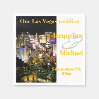 Las Vegas Wedding Strip View Disposable Napkins