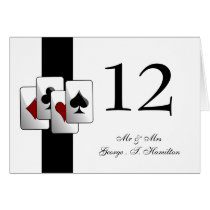 Las Vegas Wedding Table numbers