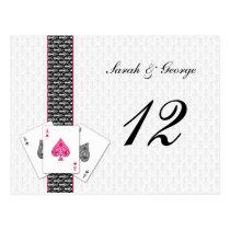 Las Vegas Wedding Table numbers