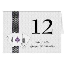 Las Vegas Wedding Table numbers Card