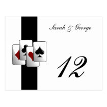 Las Vegas Wedding Table numbers Postcard
