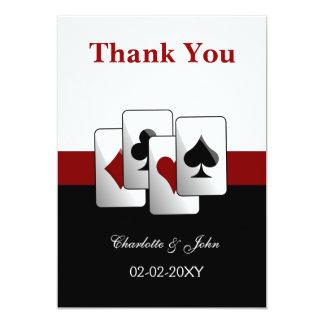 Las Vegas Wedding Thank You cards Invitation