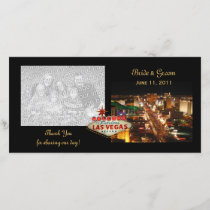 Las Vegas Wedding Thank You Photo Cards