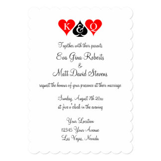 Las Vegas wedding theme invitations Custom invites