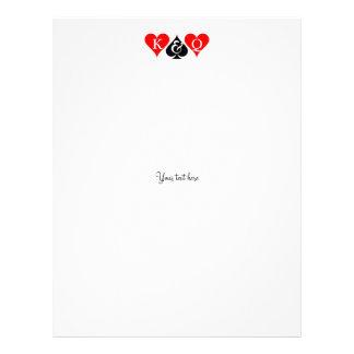 Las Vegas wedding theme letterhead stationery
