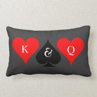 Las Vegas wedding throw pillow with monograms