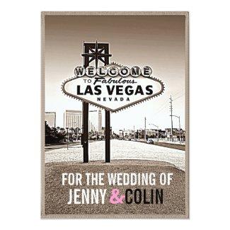 Las Vegas Wedding Vintage Chic Invites