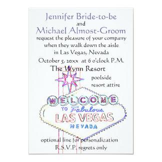 Las Vegas Wedding : walk down the aisle 5x7 Paper Invitation Card