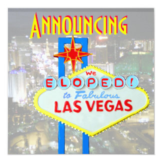 52 Las Vegas Elopement Invitations Las Vegas Elopement Announcements Amp Invites