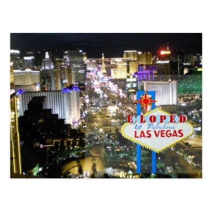 Las Vegas Wedding We Eloped Postcard