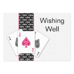 Las Vegas Wedding wishing well cards Large Business Cards (Pack Of 100)