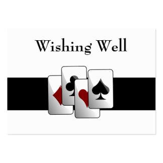 Las Vegas Wedding wishing well cards Large Business Card