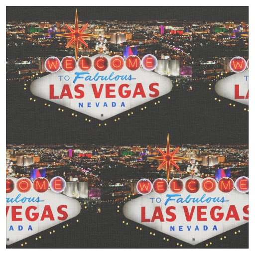 Las vegas welcome fabric zazzle for Arts and crafts stores in las vegas