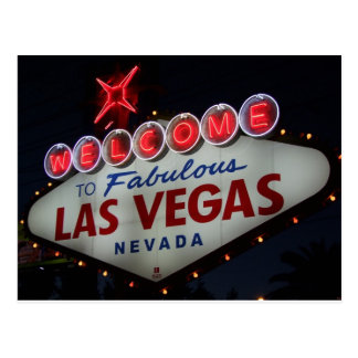Las Vegas Welcome Postcard