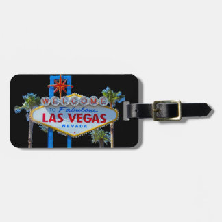 Las Vegas Welcome Sign Bag Tag