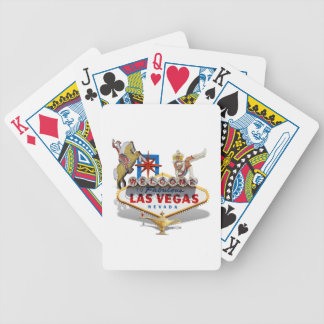 Las Vegas Welcome Sign Bicycle Playing Cards