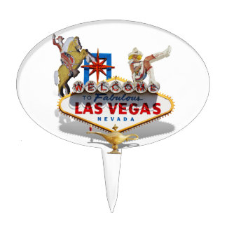 Las Vegas Welcome Sign Cake Topper