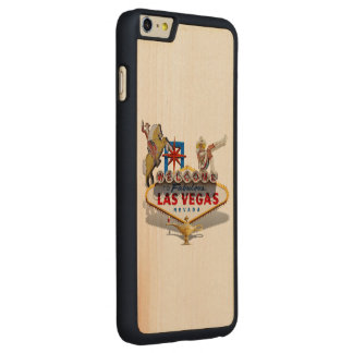 Las Vegas Welcome Sign Carved Maple iPhone 6 Plus Case