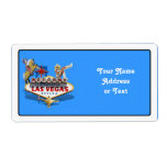 Las Vegas Welcome Sign Custom Shipping Label