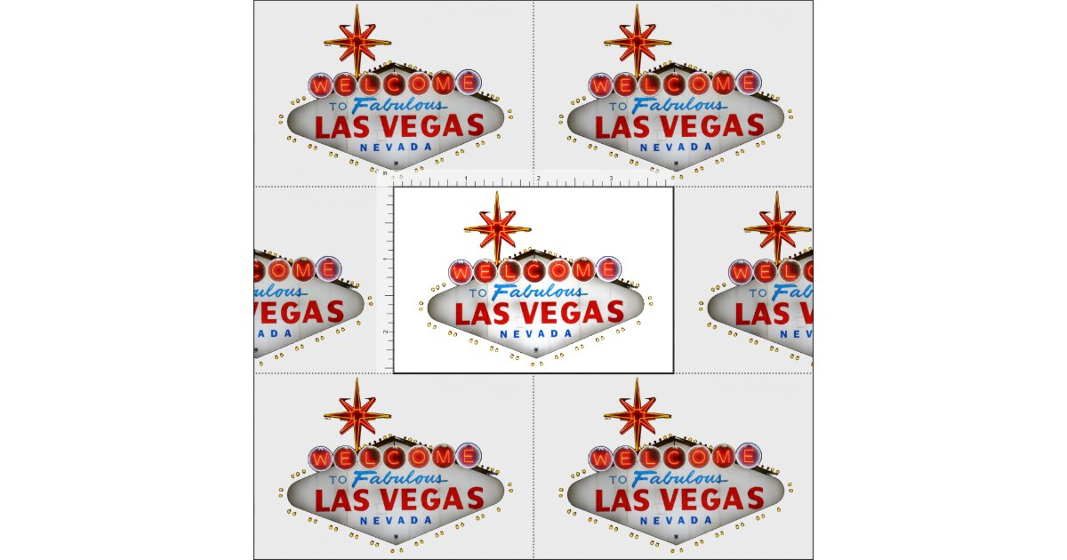 Las vegas welcome sign fabric zazzle for Arts and crafts stores in las vegas