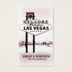 Las Vegas Welcome Sign Generic Business Card at Zazzle
