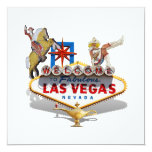 Las Vegas Welcome Sign 5.25x5.25 Square Paper Invitation Card