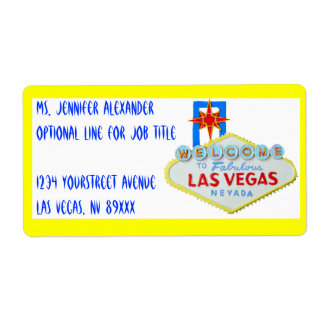 Las Vegas Welcome Sign Personalized Shipping Labels